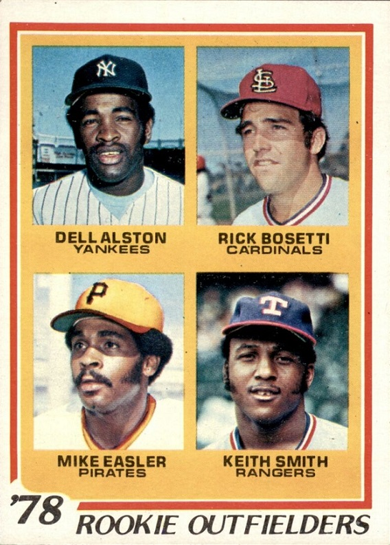 Card of the Day: 1978 Topps Rookie Outfielders featuring Mike Easler