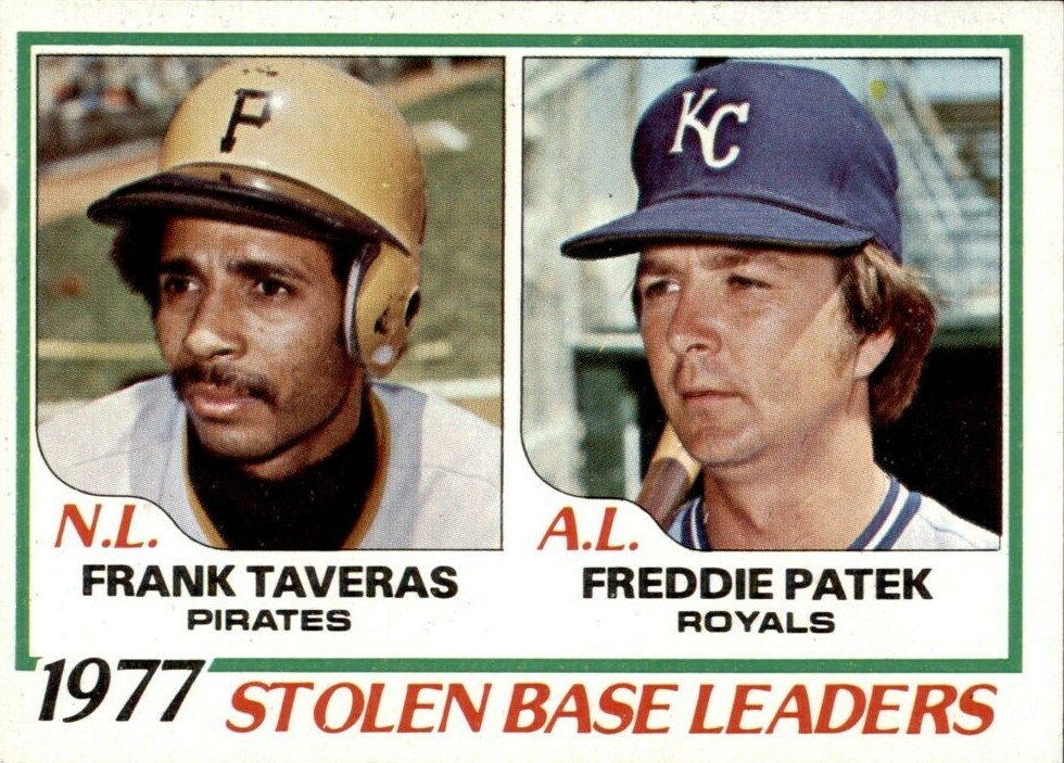 Card of the Day: 1978 Topps Stolen Base Leaders featuring Freddie Patek & Frank Taveras
