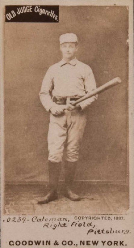 Card of the Day: 1887 N172 Old Judge John Coleman